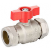 Nickel Plated Brass Ball Valve-Compression